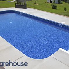 Pool Warehouse had 16 x 32 Rectangle In-ground Swimming Pool Kit in stock and ready to ship! Our pool kits come with everything you need for installation. Pool Sizes Inground, Cheap Inground Pool, Vinyl Pools Inground, Cheap Pool, Swimming Pool Kits, Swimming Pools Backyard, Swimming Pool Designs, Backyard Pool Landscaping, Backyard Pool Designs