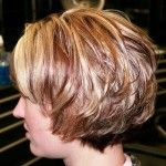 very short stacked bob hairstyles back view