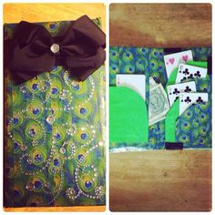 new server book! with tons of pockets and an extra money pouch.  Lots of bling and a bow, just my style!!