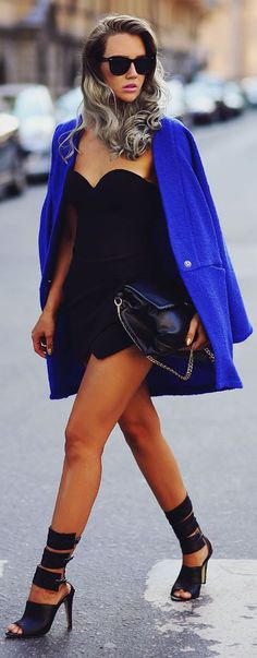 Chic In The City- H&m Black Flirty Bandeau Bodysuit- ~LadyLuxury~