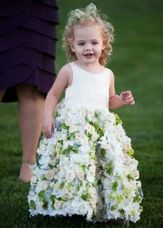 A Flower Girl Dress Made With Real Roses | Alternate Angles | blog.theknot.com