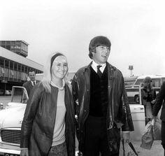 John Lennon with wife Cynthia Lennon in May 1964