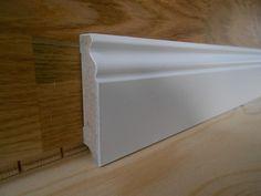 FUSSLEISTEN BERLINER PROFIL WEISS 58 x 19 mm LACKIERT, KEINE FOLIE ! !