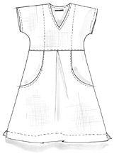 Klänning i linne/bomull – Kjolar & klänningar – GUDRUN SJÖDÉN – Kläder Online & Postorder