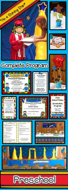Preschool Graduation Diplomas Invitations And Program For
