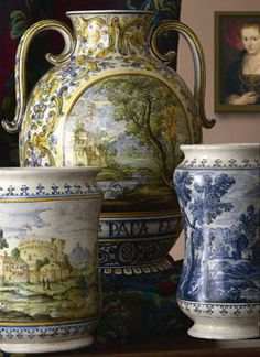 Beautiful Italian pottery from Castelli, Abruzzo.