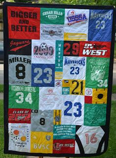 Love of Sewing: Book Review: How to Make a Too Cool T-shirt Quilt. Need to remember this for my kiddos