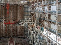 Here are passenger gates, ramps for getting on board the orbiting ships. - Photos Of Abandoned Soviet Space Shuttle Program Best of Web Shrine