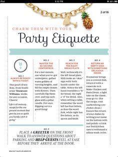 Party Etiquette charmetiquette.com