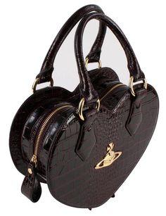 Women's Handbags | Vivienne Westwood New Chancery Heart Bag - Bordeaux | @ KJ Beckett - Only £229.95!! Stunning Bags Online!