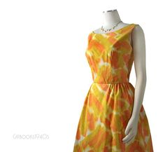 Vintage 60s Mad Men Summer Dress M  Watercolor by Catbooks1940s, $60.00 -- I would love to wear this to either my bridal shower or rehearsal dinner. Beautiful, bright, cheery colors!