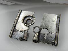 Vesna Kolobaric - mini art mismatch stud sterling silver earrings - VESNAjewelryART
