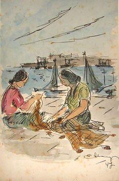 Aquarel·la i tinta xinesa. 1947