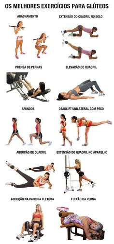 best glutes exercises.                                         . I do pretty much all of these, minus this, add that, tweak that(since I work out at home). And I agree, this pic has some of my absolute favorite glute workouts :)