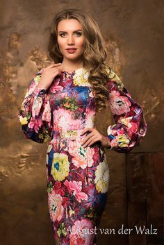 """Designer womens dresses Floral sheath dress. Spring-summer #dress with super stylish design from my collection  """"Smell of summer""""  stylish and trendy women's casual dress. Bodycon Midi dress with f... #dresses #clothing #fashion #eveningdress"""