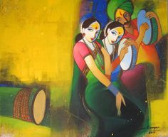 Buy Waghya-Muruli 1 painting online - the original artwork by artist Sudhir Bangar, exclusively available at Mojarto only. Saree Painting, Kerala Mural Painting, Fabric Painting, African Art Paintings, Dance Paintings, Human Painting, Composition Painting, Indian Contemporary Art, Indian Folk Art