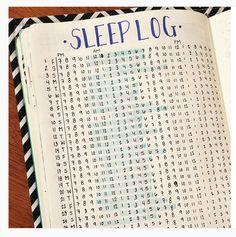 Sleep log, great way to keep track and improve sleep.