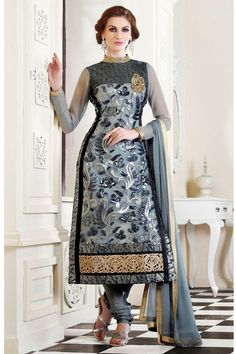 Latest Designer Indian Fancy Suit Party wear Embroidery fancy bridal Suit 611 #AartISaree #StraightSuit