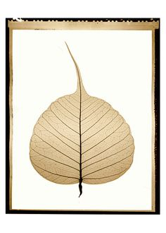 The bodhi leaf - symbolizes Buddha's achieving full Enlightenment under the bodhi tree
