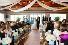 ceremony fabric draping