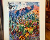 One Only. Matted and Framed. Wildflowers at Vail Pass, Colorado, print area 24 x 18, last of a limited edition giclee print