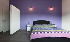 purple bedroom designs often revolve around wall colors this room has themed baby girl ideas pleasant design Violet Bedroom Walls, Purple Bedrooms, Purple Walls, Purple Bedroom Design, Bedroom Designs, Murs Violets, Room Interior, Interior Design, Studio Furniture