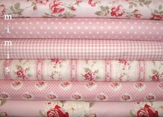 1/4 yards / Petal Fabric by Tanya Whelan / Pinks & Blues / 12 prints Cotton Quilt Apparel Fabric