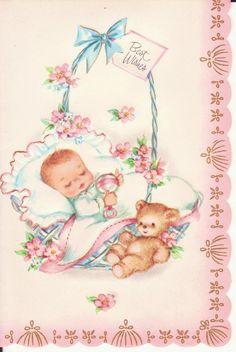 58 Ideas baby cards vintage sweets for 2019 Vintage Sweets, Vintage Cards, Vintage Postcards, Clipart Baby, Old Greeting Cards, Old Cards, Bonbons Vintage, Art Carte, Baby Illustration