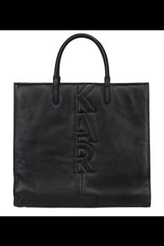 Karl Lagerfeld • KARL CUT OUT SOFT LEATHER TOTE BAG