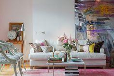 Bilder, Vardagsrum, Soffa, Tavla, Matta - Hemnet Inspiration
