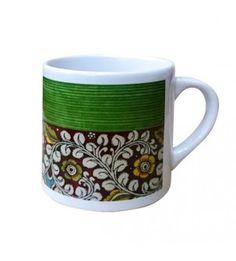 Kalamkari Small Green Mug