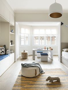 Spanish designers, as a rule, prefer warm beige-brown shades in design, reflecting the abundance of sun in the climate of this beautiful southern country. ✌Pufikhomes - source of home inspiration Living Spaces, Living Room, Brown Shades, Barcelona, Blog Deco, Cuisines Design, Around The Corner, Shag Rug, Dining Table