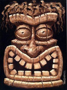 Freaky Tiki Man 2 Painting