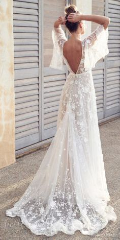 Anna Campbell 2019 Wedding Dresses - Wanderlust Bridal Collection part mariage mariage boheme champetre champetre deco deco robe romantique decorations dresses hairstyles Backless Lace Wedding Dress, Bohemian Wedding Dresses, Dream Wedding Dresses, Boho Dress, Boho Wedding, Bridal Dresses, Lace Dress, Bohemian Bride, Lace Weddings