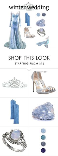 """""""Winter Wedding #2"""" by hideous ❤ liked on Polyvore featuring Kate Marie, Jimmy Choo, C by Bloomingdale's and Terre Mère"""