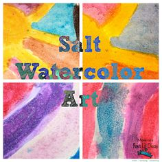 Kids Art - Salt Watercolor Painting from Mom to 2 Posh Lil Divas