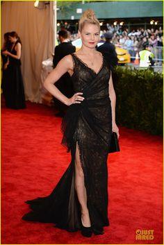 "jennifer morrison met ball 2013 Jennifer Morrison keeps it sheer black at the 2013 Met Gala held at the Metropolitan Museum of Art on Monday (May 6) in New York City. """