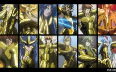 Saint Seiya - The Lost Canvas - Gold Saints