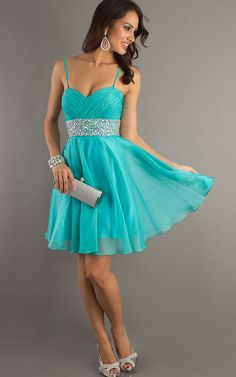 short homecoming dresses | ... -and-johnny-7282-turquoise-short-glitzy-prom-dresses-2013-p-484.html