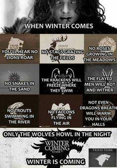 When winter comes...