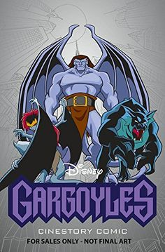 Goliath,Bronx, & Demona on the cover of Disney Gargoyles Cinestory Comic Volume 1. This is the upcoming new comic book is coming out this year in 2016. Don't know what date they are going to release it but it is so exciting. Can't wait for Greg Weisman to make more future stuff for Disney's Gargoyles soon :)