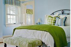 blue & green bedroom - fresh