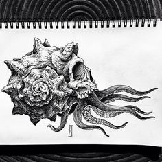 New tattoo project. Octopus Tattoo Design, Octopus Tattoos, Tattoo Designs, Pirate Skull Tattoos, Tattoo Ideas, Art Drawings Sketches, Tattoo Sketches, Tattoo Drawings, Black Tattoos