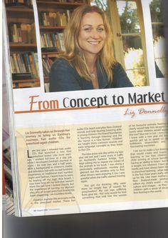 Liz Donnelly in Her Business Magazine