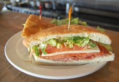 Italian Po'Boy Sandwich - What You'll Need: Bread of your choice - Salami - Prosciutto - Pepperoni - Cheese of your choice - Lettuce - Tomato - Dressing on your choice --- How to Make It:  1. Toast your bread until it's as crisp as you like  2. Spread dressing of your choice on bread  3. Place various meats on your bread  4. Add cheese of your choice, lettuce and tomato  5. Cut in half and enjoy! #RostiRecipes #rostituscankitchen #santamonica #encino #calabasas #italianfood #sandwich…