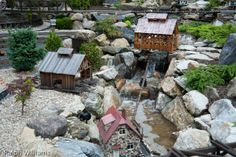 Garden Railway Brook Garden Railroad, Wooden Art, Fairy Gardens, Model Trains, Backdrops, Empire, Scale, Backyard, House Styles