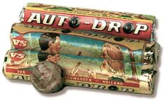 Lekkere dropjes. My dad had these in his semi all the time, the licorice pieces look like racing care tires, not sure you can still get these.