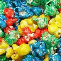 Make Rainbow Popcorn Balls! This uses corn syrup and sugar, so it may turn out brighter, we'll have to see about the taste. Popcorn Balls, Popcorn Mix, Rainbow Popcorn, Colored Popcorn, Colorful Birthday, Rainbow Birthday, Yummy Treats, Yummy Food, Great Recipes