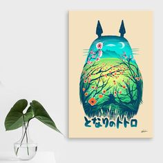 A friendly neighbor that'll never move away.  Shop all of Victor Vercesi's Totoro-inspired art.