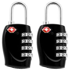 AMOS® TSA Approved Accepted 4-dial Combination Resettable Padlock Code Travel Luggage Suitcase Bag Locker Security Safety Lock (2 Pack Black) AMOS http://www.amazon.co.uk/dp/B00OLPTG7S/ref=cm_sw_r_pi_dp_QJ02vb0YBGAGE